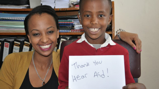 HearAid Foundation provided hearing aids to children at the Makenissa School for the Deaf and CURE Hospital in Addis Ababa, Ethiopia