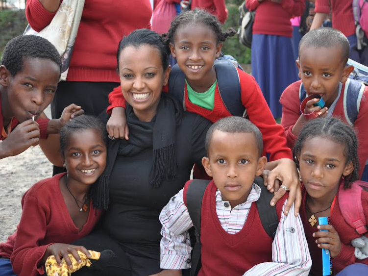 HearAid Foundation recipients at the Makenissa School for the Deaf in Addis Ababa, Ethiopia