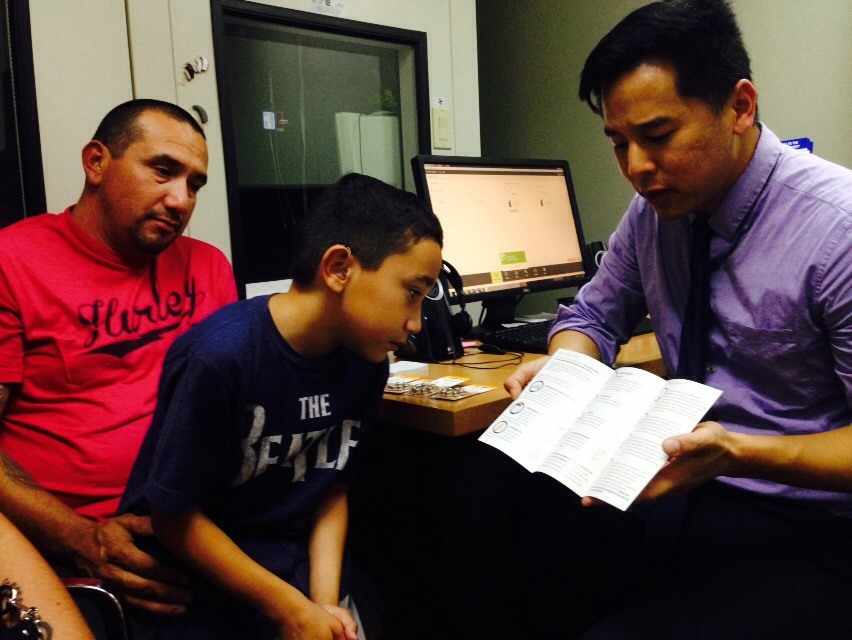 HearAid Foundation recipient Jesse gets fitted for his new hearing aids